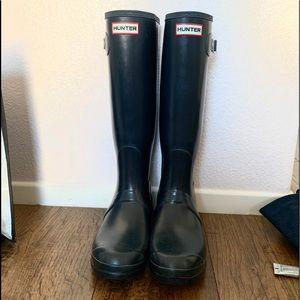 Tall Dark blue Hunter boots